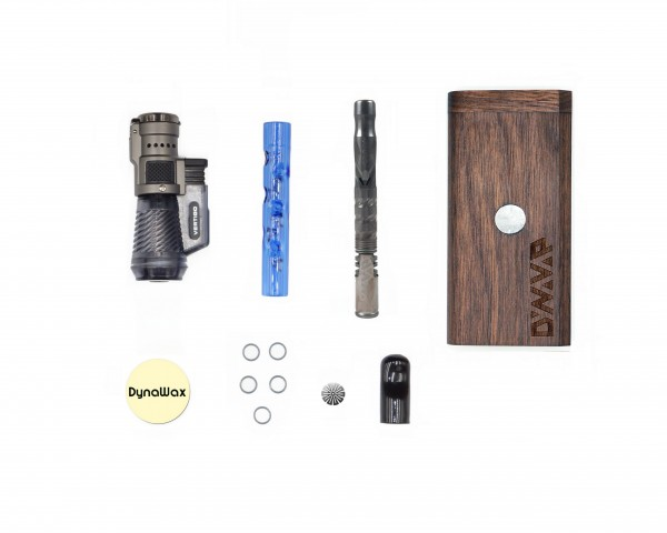 "DYNAVAP STARTER SET ""VAPCAP COLOR M"" Edt 2020 - WALNUSS DynaStash / BLAU Hula Stem"