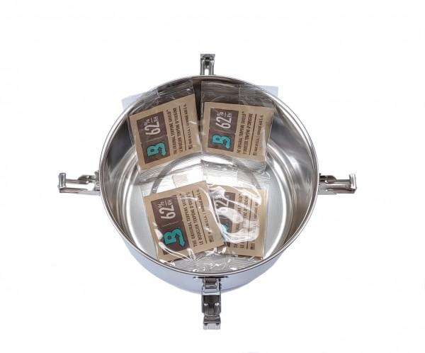 Freshkeeper Vakuum Edelstahl Container mit Humidity Control
